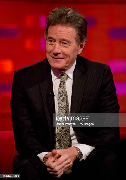 Bryan Cranston during filming of the Graham Norton Show at the London Studios to be aired on BBC One on Friday evening