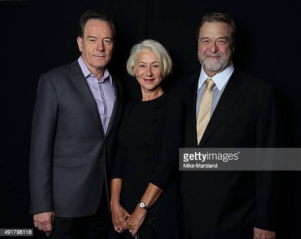 Bryan Cranston Helen Mirren and John Goodman attends the 'Trumbo' Portrait Session as part of the BFI London Film Festival at Corinthia Hotel London...