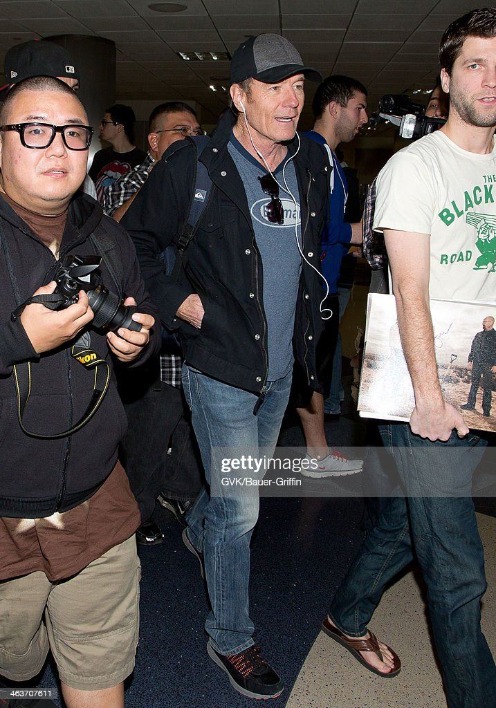 Bryan Cranston is seen on January 18, 2014 in Los Angeles, California.