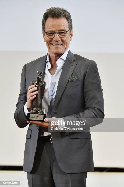 Bryan Cranston poses with the Giffoni Experience Award during the Giffoni Film Festival Day 7 on July 20 2017 in Giffoni Valle Piana Italy