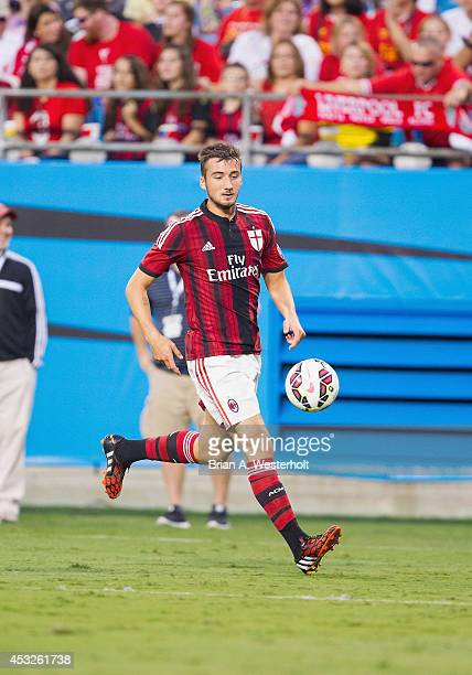 Bryan Cristante of AC Milan chases down a loose ball during second half action against Liverpool in the Guinness International Champions Cup at Bank...