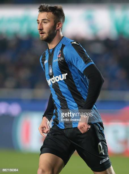 Bryan Cristante of Atalanta BC looks on during the Serie A match between Atalanta BC and Benevento Calcio at Stadio Atleti Azzurri d'Italia on...