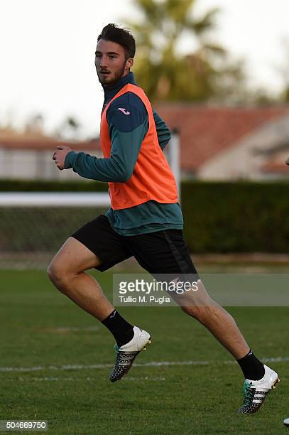 Bryan Cristante of Palermo in action during a palermo training session at Tenente Carmelo Onorato training center on January 12 2016 in Palermo Italy