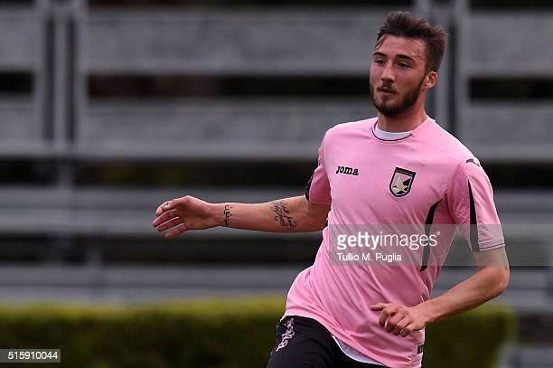 Bryan Cristante of Palermo in action during a test match between US Citta' di Palermo and Parmonval at Tenente Carmelo Onorato training center on...