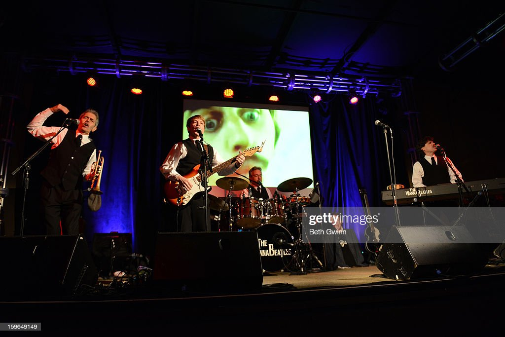 Bryan Cumming, Dennis Scott, David Toledo, and Nathan Burbanic of the Wannabeatles performs in honor of Betty White's 91st Birthday at 3rd & Lindsley on January 17, 2013 in Nashville, Tennessee.