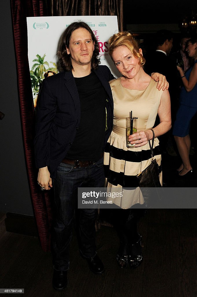 Bryan Dick (L) and guest attend an after party celebrating the UK Premiere of 'Day Of The Flowers' at The Mayfair Hotel on November 24, 2013 in London, England.