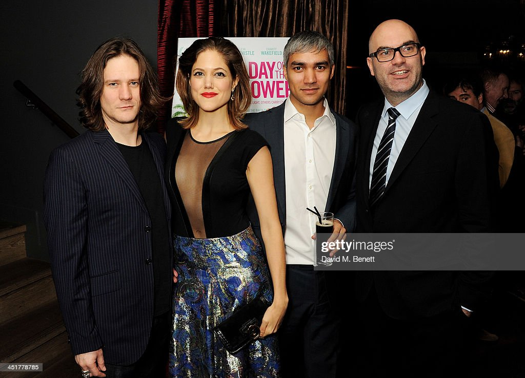 Bryan Dick, Charity Wakefield, Christopher Simpson and producer Jonathan Rae attend an after party celebrating the UK Premiere of 'Day Of The Flowers' at The Mayfair Hotel on November 24, 2013 in London, England.