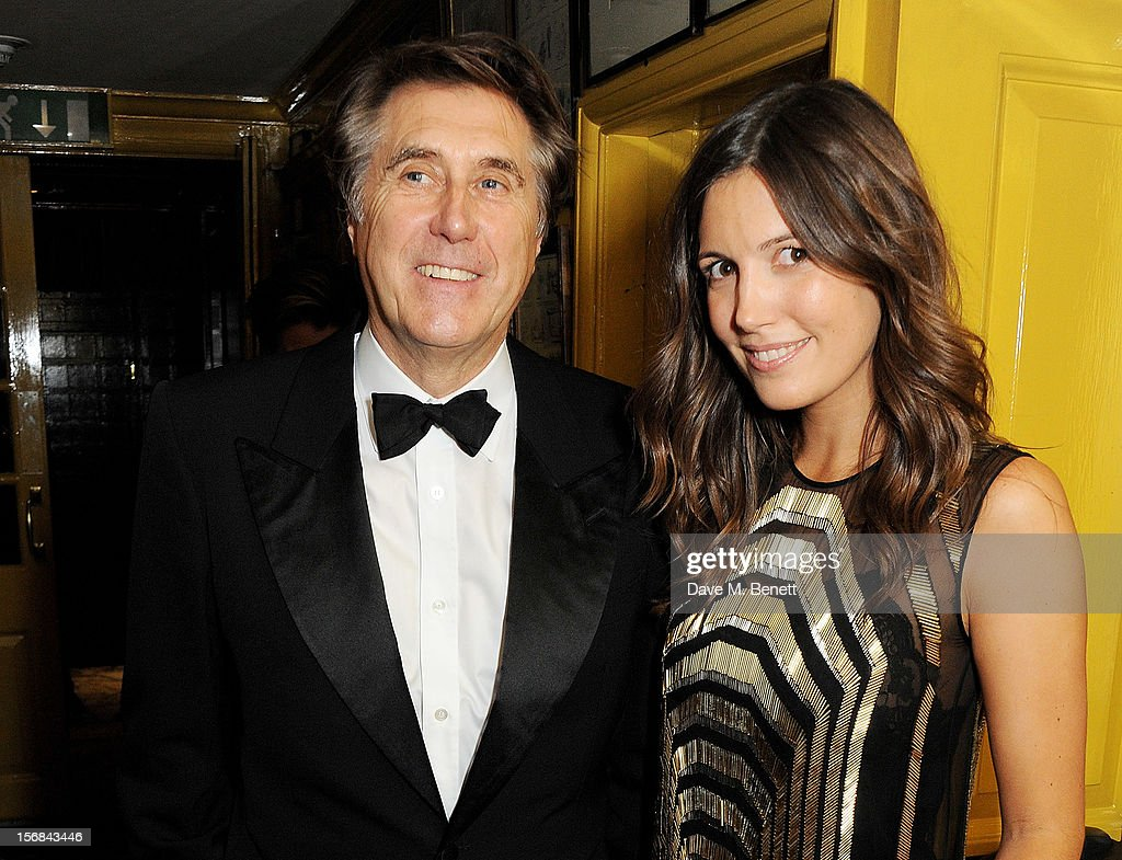 Bryan Ferry (L) and Amanda Sheppard attends the launch of Bryan Ferry's new album 'The Jazz Age' at Annabels on November 22, 2012 in London, England.