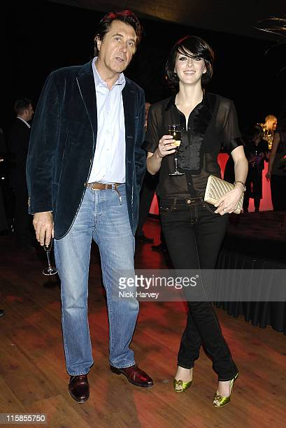 Bryan Ferry and Katie Turner during Audi TT –Launch Party at The Bridge in London Great Britain
