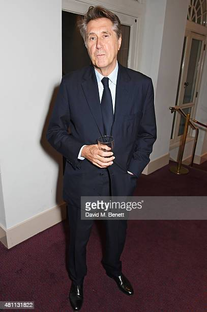 Bryan Ferry attends a postshow drinks reception following the Ardani 25 Dance Gala at The London Coliseum on July 17 2015 in London England