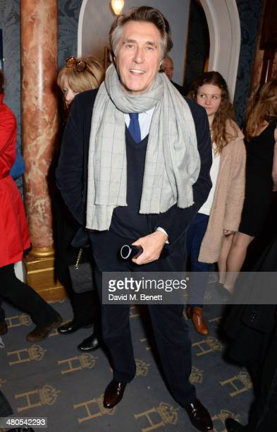 Bryan Ferry attends an after party celebrating the press night performance of 'Fatal Attraction' at Mint Leaf Restaurant on March 25 2014 in London...