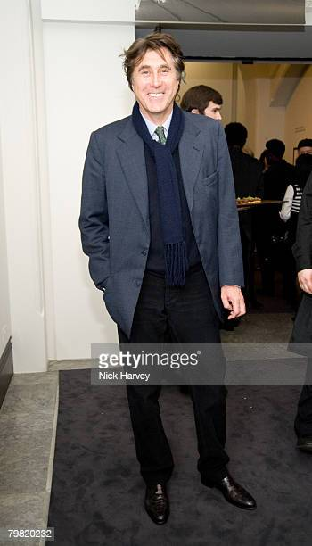 Bryan Ferry attends the exhibition of Vanity Fair Portraits preview party hosted by Graydon Carter and Christopher Bailey at the National Portrait...