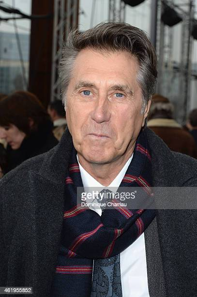 Bryan Ferry attends the Louis Vuitton Menswear Fall/Winter 20152016 show as part of Paris Fashion Week on January 22 2015 in Paris France