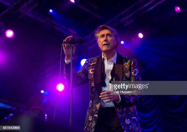 Bryan Ferry performs at The Henley Festival on July 9 2014 in HenleyonThames England