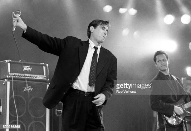 Bryan Ferry performs on a TV Show for Greenpeace Scheveningen Netherlands 28th October 1987
