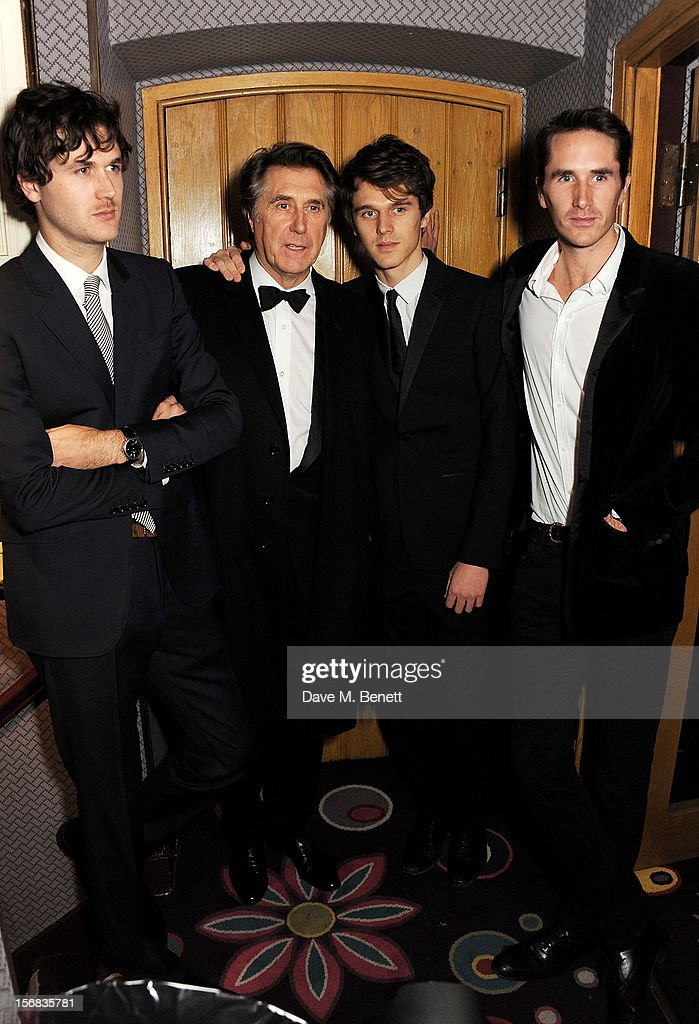 <a gi-track='captionPersonalityLinkClicked' href=/galleries/search?phrase=Bryan+Ferry&family=editorial&specificpeople=206306 ng-click='$event.stopPropagation()'>Bryan Ferry</a> (2L) poses with sons Isaac, Tara and Otis at the launch of his new album 'The Jazz Age' at Annabels on November 22, 2012 in London, England.