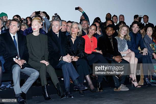 Bryan Ferry Tilda Swinton Owner of LVMH Luxury Group Bernard Arnault his wife Helene Arnault Usher his wife Grace Miguel Natalia Vodianova and...