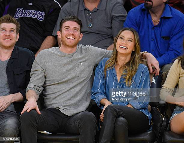 Bryan Greenberg and Jamie Chung attend a basketball game between the New York Knicks and the Los Angeles Lakers at Staples Center on December 11 2016...