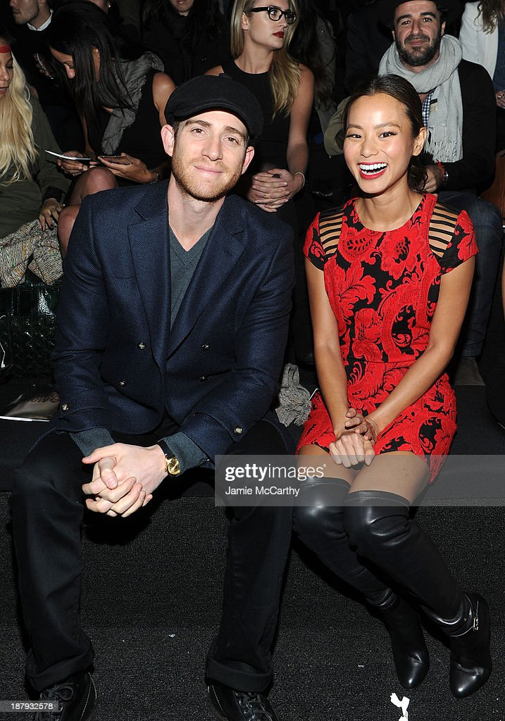 <a gi-track='captionPersonalityLinkClicked' href=/galleries/search?phrase=Bryan+Greenberg&family=editorial&specificpeople=2135761 ng-click='$event.stopPropagation()'>Bryan Greenberg</a> and <a gi-track='captionPersonalityLinkClicked' href=/galleries/search?phrase=Jamie+Chung&family=editorial&specificpeople=4145549 ng-click='$event.stopPropagation()'>Jamie Chung</a> attend the 2013 Victoria's Secret Fashion Show at Lexington Avenue Armory on November 13, 2013 in New York City.