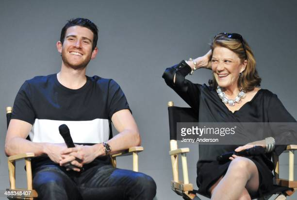 Bryan Greenberg and Linda Lavin attend Meet The Actor Bryan Greenberg 'A Short History of Decay' at Apple Store Soho on May 5 2014 in New York City