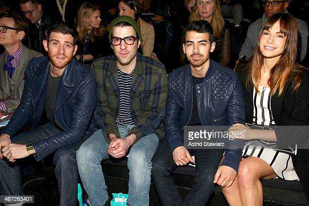 Bryan Greenberg Zachary Quinto Joe Jonas and Blanda Eggenschwiler attend Richard Chai fashion show during MercedesBenz Fashion Week Fall 2014 at The...