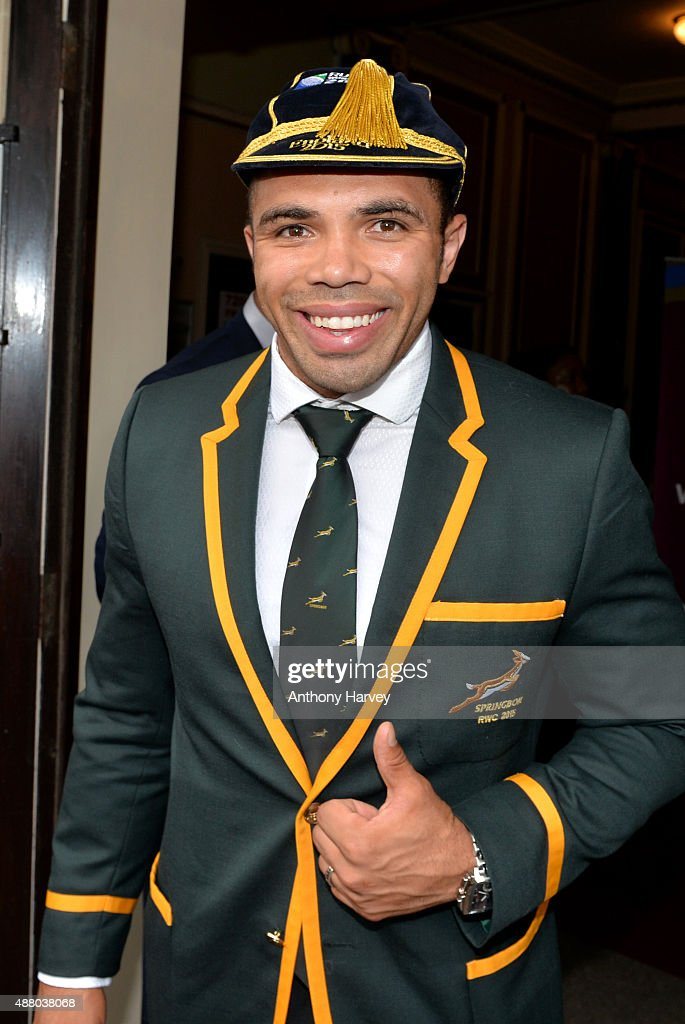 <a gi-track='captionPersonalityLinkClicked' href=/galleries/search?phrase=Bryan+Habana&family=editorial&specificpeople=221391 ng-click='$event.stopPropagation()'>Bryan Habana</a> attends the South Africa 2015 World Cup team welcoming ceremony at the Winter Gardens on September 13, 2015 in Eastbourne, England.