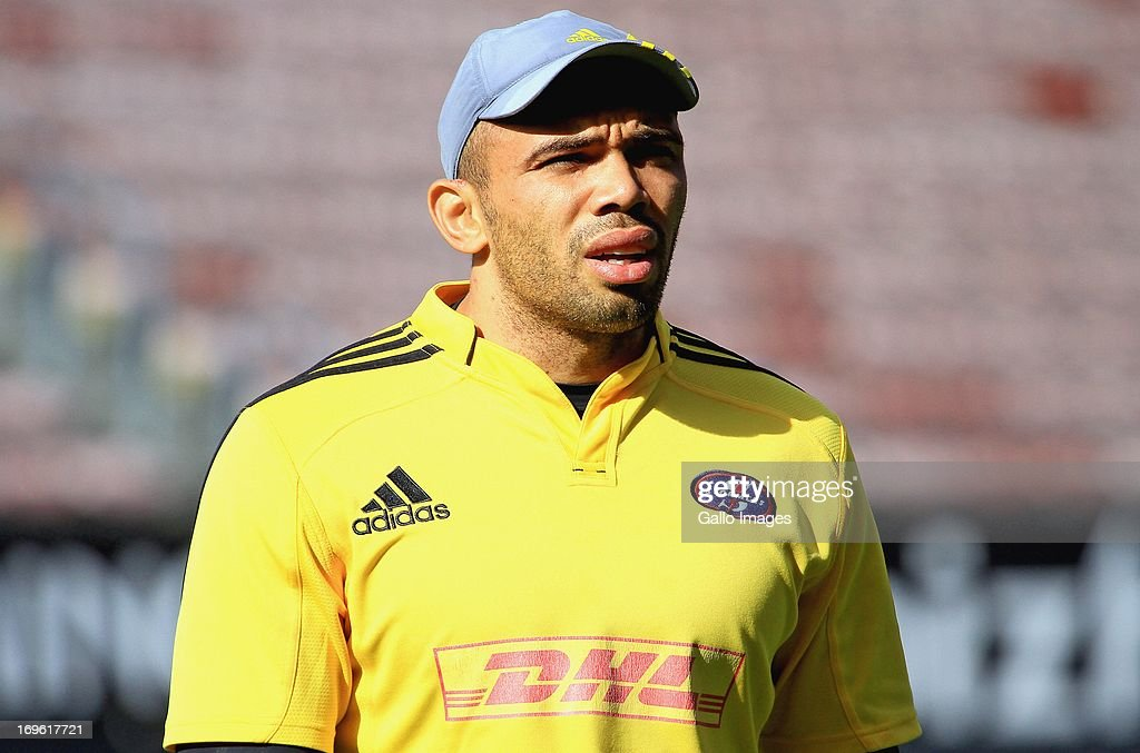 Bryan Habana during the DHL Stormers training session and press conference at DHL Newlands on May 29, 2013 in Cape Town, South Africa.