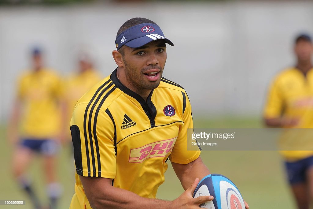 <a gi-track='captionPersonalityLinkClicked' href=/galleries/search?phrase=Bryan+Habana&family=editorial&specificpeople=221391 ng-click='$event.stopPropagation()'>Bryan Habana</a> in action during the DHL Stormers training session at the High Performance Centre in Bellville on January 30, 2013 in Cape Town, South Africa.