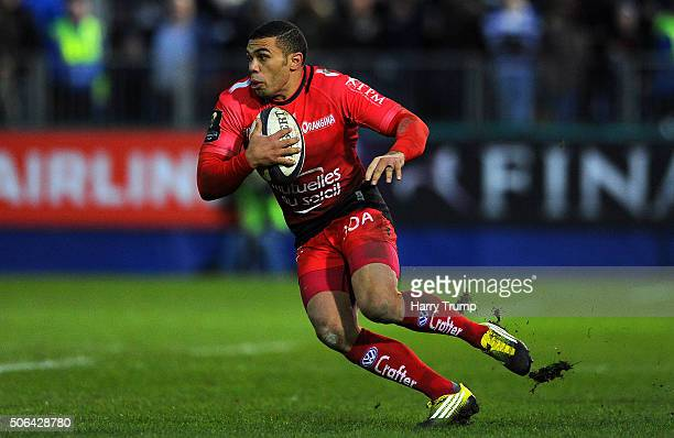 Bryan Habana of Toulon during the European Rugby Champions Cup match between Bath Rugby and RC Toulon at the Recreation Ground on January 23 2016 in...