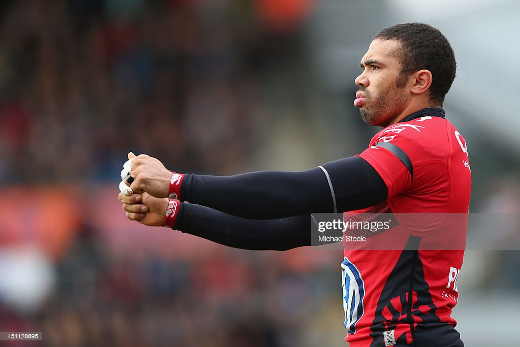 Bryan Habana of Toulon looks on during the Heineken Cup Pool Two match between Exeter Chiefs and Toulon at Sandy Park on December 7, 2013 in Exeter, England.