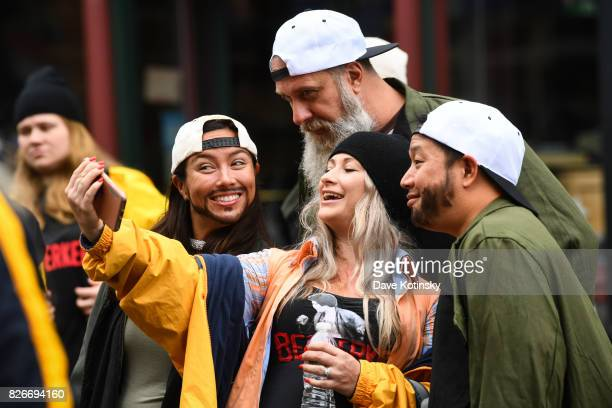 Bryan Johnson and Ming Chen greet fans at the Jay And Silent Bob Cosplay Guinness Book Of World Records Event on August 5 2017 in Red Bank New Jersey