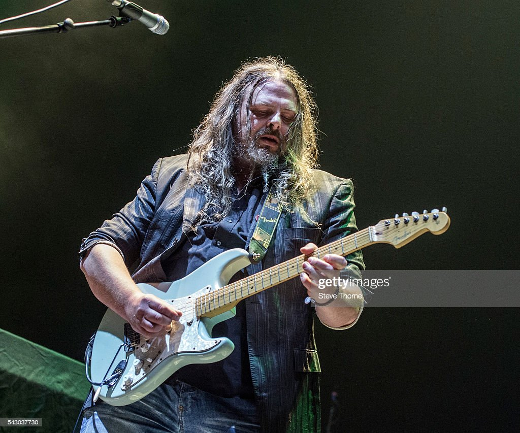 Bryan Josh of Mostly Autumn performs at Genting Arena on June 25, 2016 in Birmingham, England.