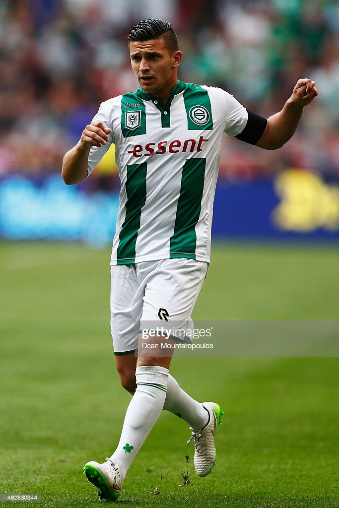 Bryan Linssen of Groningen in action during the Johan Cruijff Shield match between FC Groningen and PSV Eindhoven on August 2 2015 in Amsterdam...