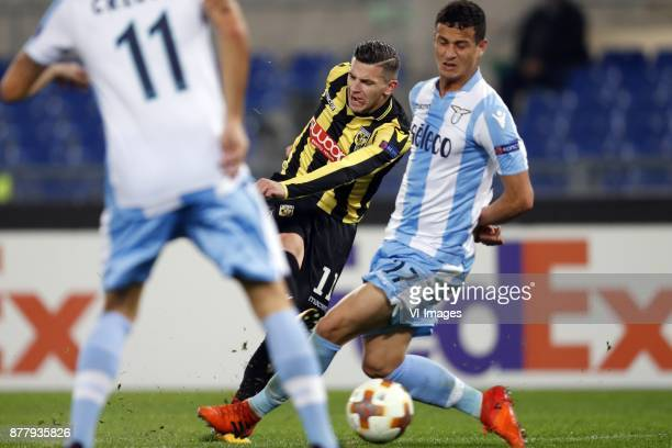 Bryan Linssen of Vitesse Luis Felipe Ramos Marchi of SS Lazio during the UEFA Europa League group K match between SS Lazio and Vitesse Arnhem at...