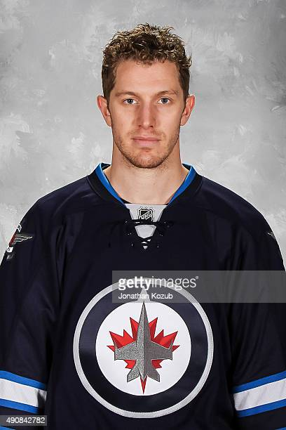 Bryan Little of the Winnipeg Jets poses for his official headshot for the 20152016 season on September 17 2015 at the MTS Centre in Winnipeg Manitoba...
