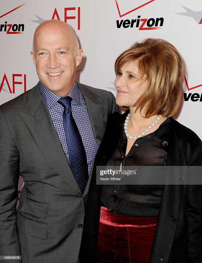 Bryan Lourd (L) and Co-Chairman of Sony Pictures Entertainment Amy Pascal attend the 13th Annual AFI Awards at Four Seasons Los Angeles at Beverly Hills on January 11, 2013 in Beverly Hills, California.