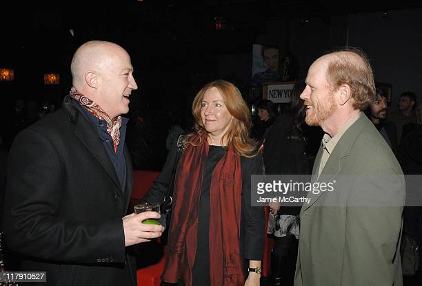Bryan Lourd Cheryl Howard and Ron Howard during 'Miss Potter' New York City Premiere Sponsored by The New York Observer L'Oreal Paris and TMobile...