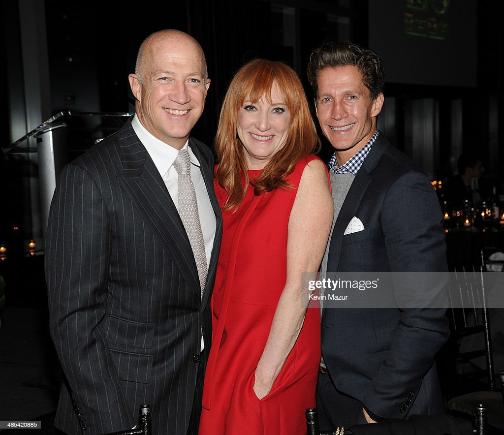Bryan Lourd, Patti Scialfa and Bruce Bozzi attend the 25th Anniversary Rainforest Fund Benefit at Mandarin Oriental Hotel on April 17, 2014 in New York City.