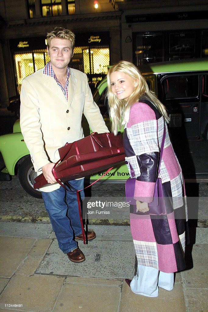 Bryan McFadden and Kerry Katona during Mulberry Store Party at Mulberry Store in London United Kingdom
