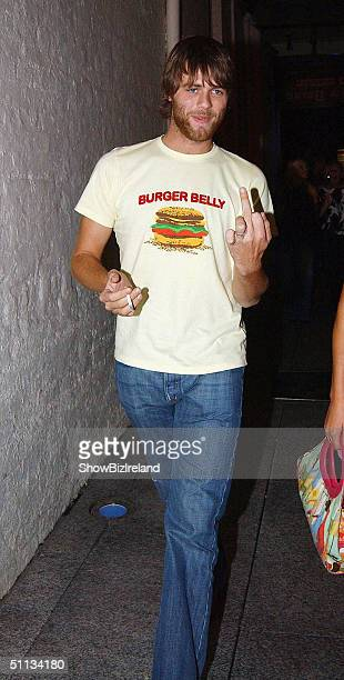 Bryan McFadden attends Jonathan Wilkes' 26th Birthday Party at Lillie's Bordello nightclub on August 1 2004 in Dublin Ireland