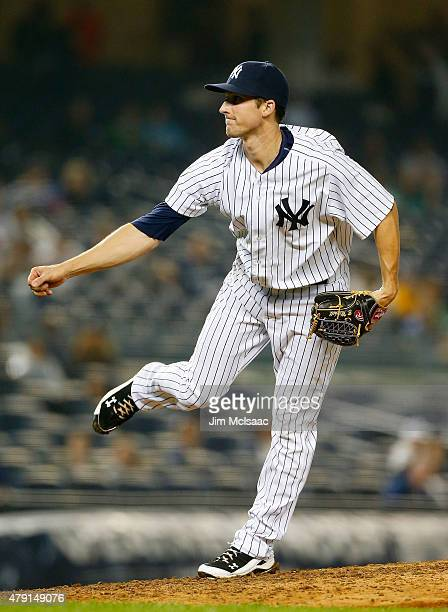 Bryan Mitchell of the New York Yankees in action against the Detroit Tigers at Yankee Stadium on June 20 2015 in the Bronx borough of New York City...