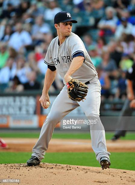 Bryan Mitchell of the New York Yankees pitches against the Chicago White Sox on August 1 2015 at US Cellular Field in Chicago Illinois