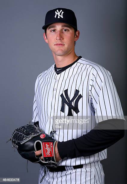 Bryan Mitchell of the New York Yankees poses for a portrait on February 27 2015 at George M Steinbrenner Stadium in TampaFlorida