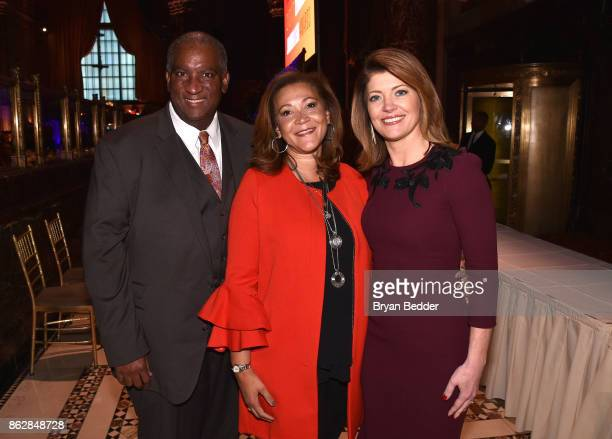 Bryan Monroe Honoree Michele Norris and Norah O'Donnell attend The International Women's Media Foundation's 28th Annual Courage In Journalism Awards...