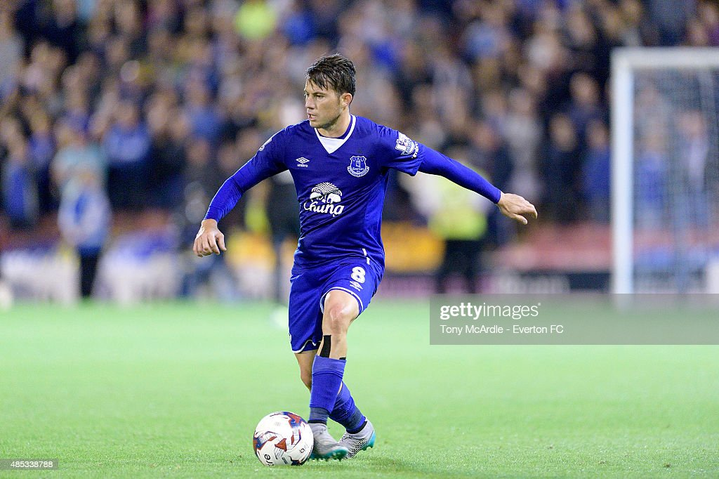 <a gi-track='captionPersonalityLinkClicked' href=/galleries/search?phrase=Bryan+Oviedo&family=editorial&specificpeople=4412740 ng-click='$event.stopPropagation()'>Bryan Oviedo</a> of Everton during the Capital One Cup Second Round match between Barnsley and Everton at Oakwell Stadium on August 26, 2015 in Barnsley, England.