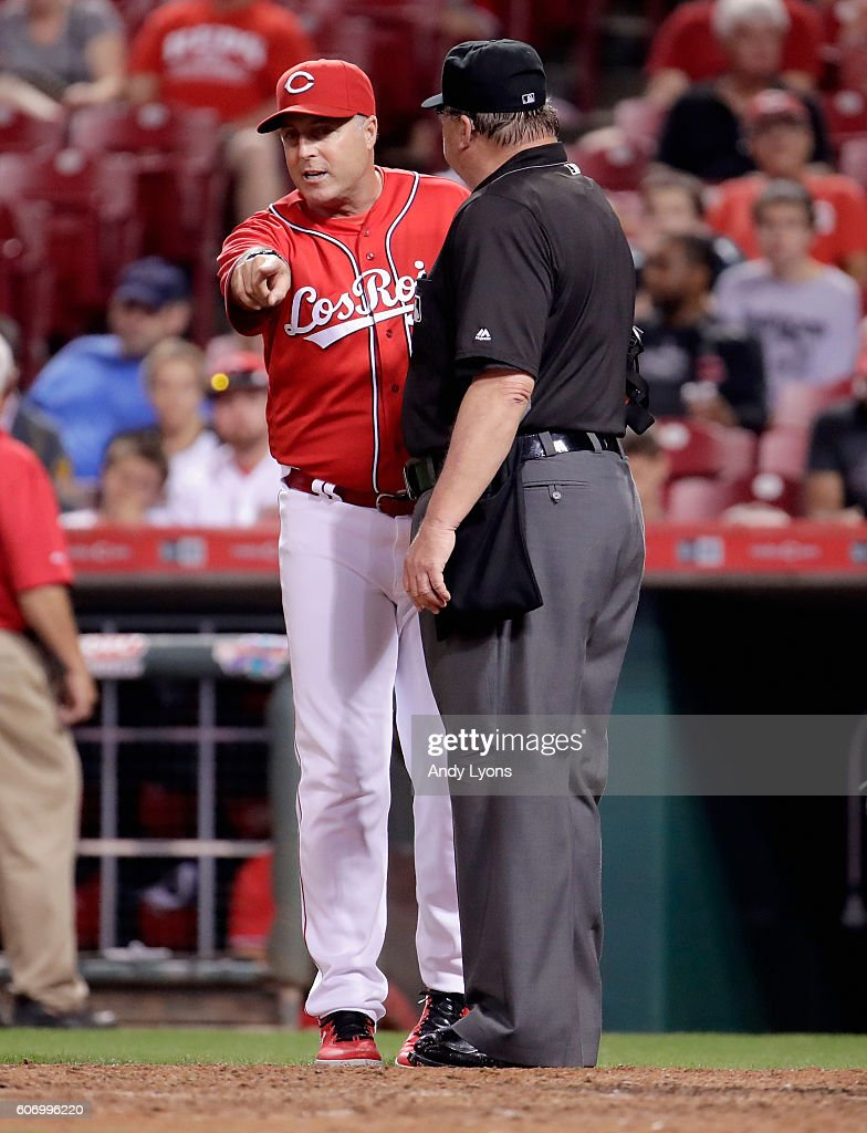 Starling marte photos photos cincinnati reds v pittsburgh pirates - Pittsburgh Pirates V Cincinnati Reds Bryan Price The Manager Of The Cincinnati Reds Argues With Home Plate Umpire Gerry Davis In