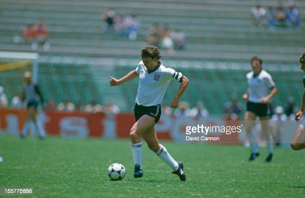 Bryan Robson of England in action during an international match against Mexico played in Mexico City 9th June 1985 Mexico won the match 10