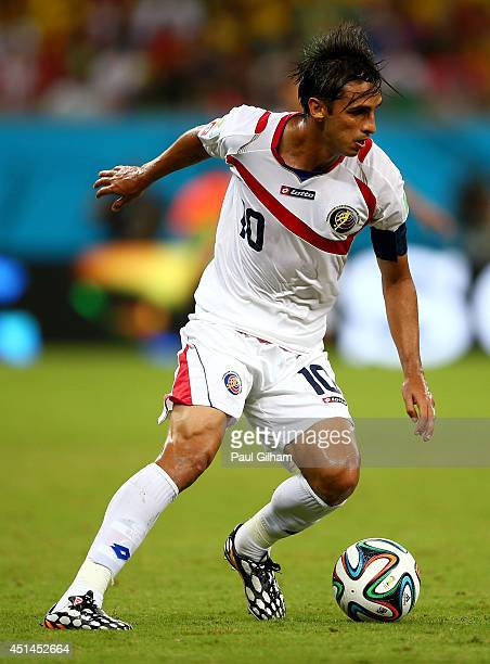 Bryan Ruiz of Costa Rica controls the ball during the 2014 FIFA World Cup Brazil Round of 16 match between Costa Rica and Greece at Arena Pernambuco...