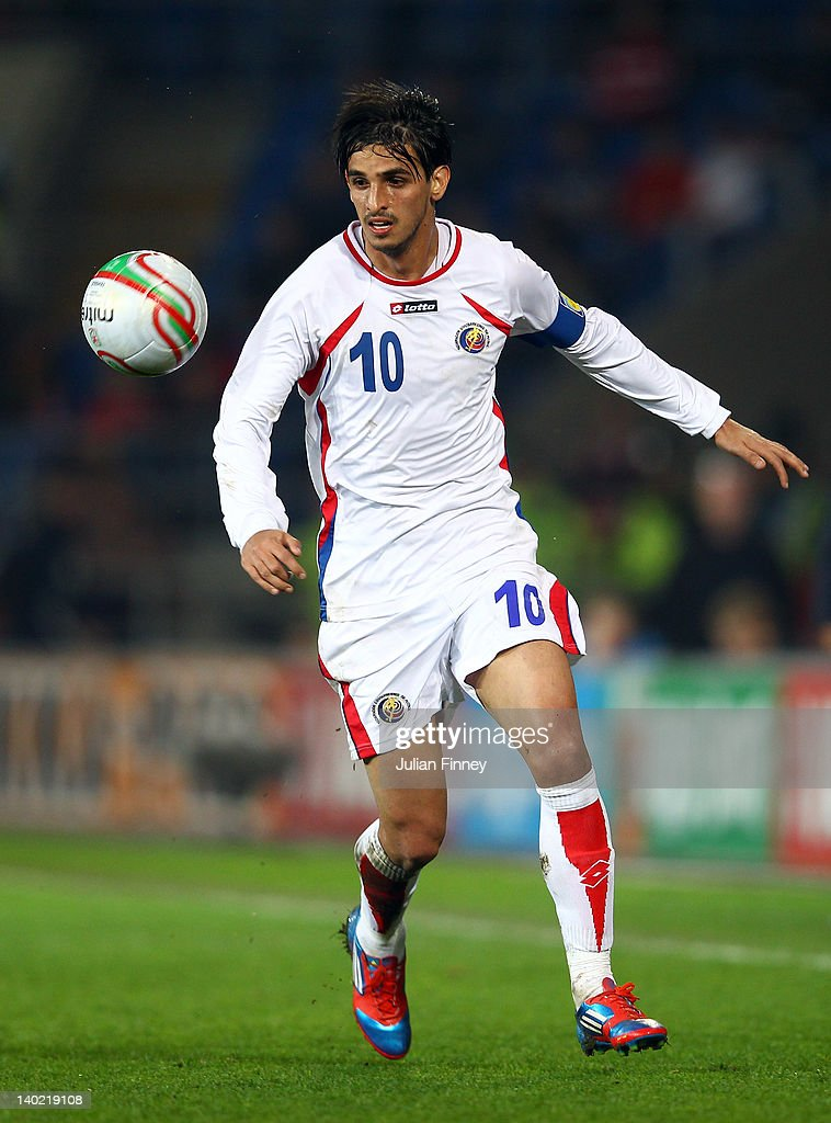 <a gi-track='captionPersonalityLinkClicked' href=/galleries/search?phrase=Bryan+Ruiz&family=editorial&specificpeople=714489 ng-click='$event.stopPropagation()'>Bryan Ruiz</a> of Costa Rica in action during the Gary Speed Memorial International Match between Wales and Costa Rica at the Cardiff City Stadium on February 29, 2012 in Cardiff, Wales. The international friendly match is being held in honour of Wales former manager Gary Speed, the nation's first international match played by Wales since his death on November 27, 2011.