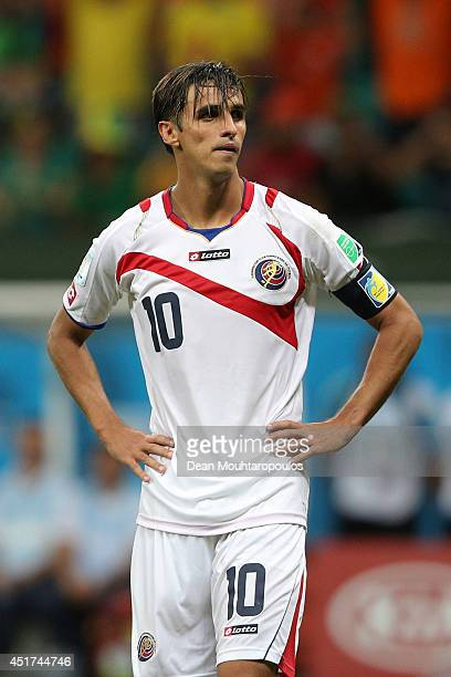 Bryan Ruiz of Costa Rica looks dejected after a defeat to the Netherlands in a penalty shootout during the 2014 FIFA World Cup Brazil Quarter Final...